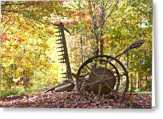 Greeting Card featuring the photograph Rustic Hay Cutter by Robert Camp