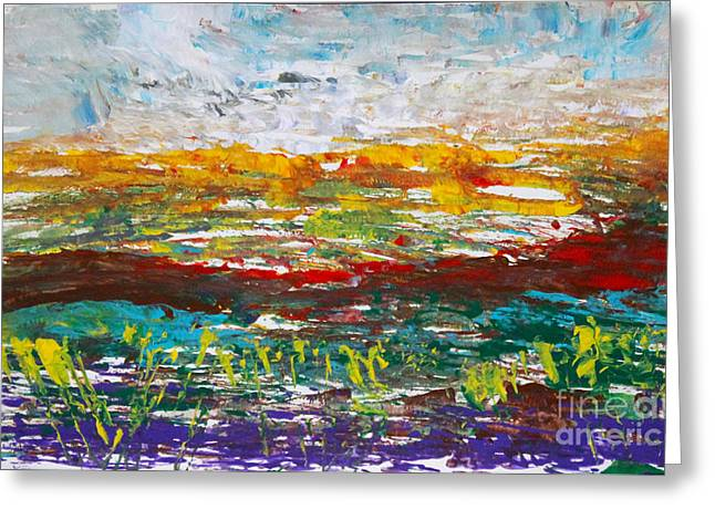 Rustic Landscape Abstract Greeting Card