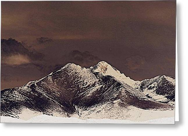 Rustic Mountain Greeting Card by Augustina Trejo