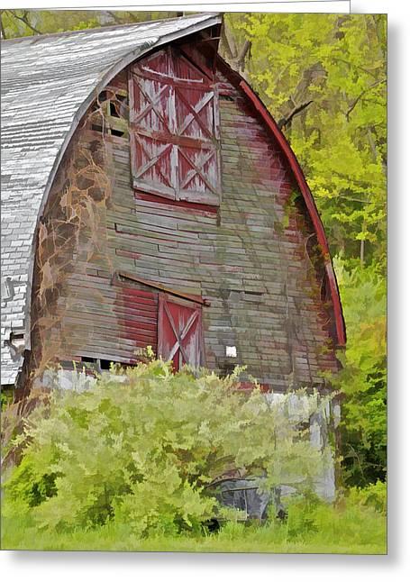 Rustic Red Barn II Greeting Card