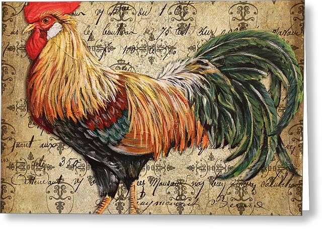 Rustic Rooster-jp2121 Greeting Card