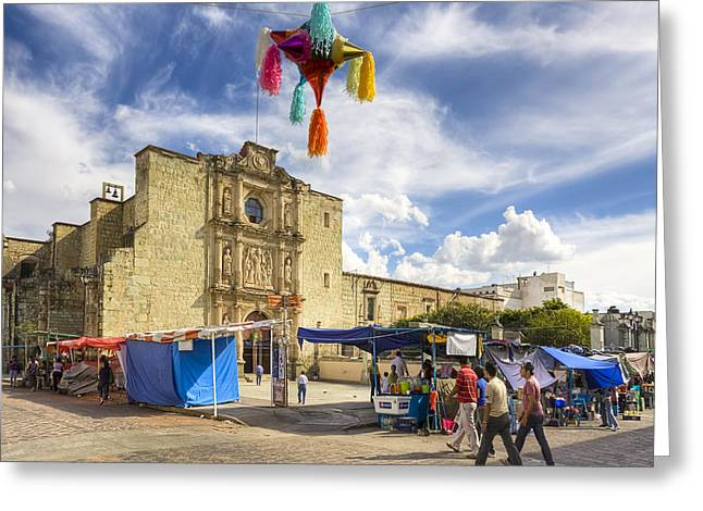 Rustic Spanish Colonial Church In Oaxaca Mexico Greeting Card by Mark Tisdale