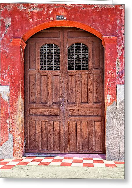 Rustic Spanish Colonial Door - Granada Greeting Card by Mark E Tisdale