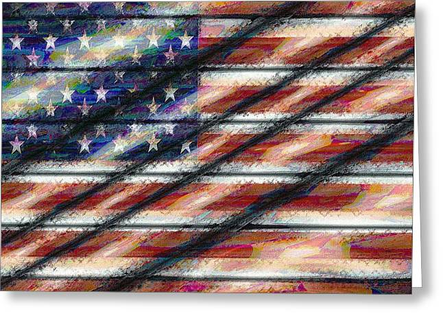 Rustic Usa Greeting Card