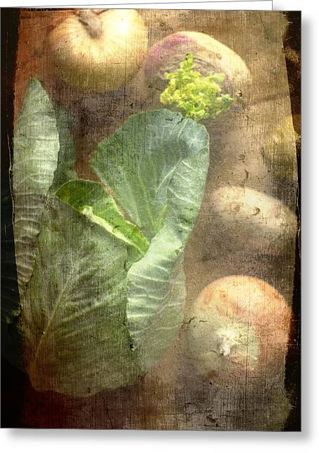 Rustic Vegetable Fruit Medley IIi Greeting Card