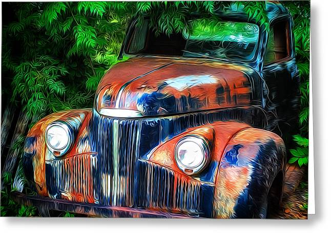 Rusting In The Shade Greeting Card
