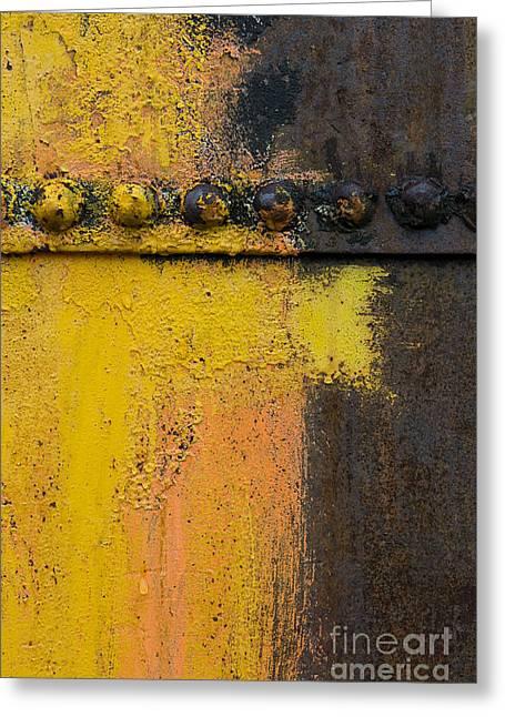 Rusting Machinery Greeting Card by John Shaw