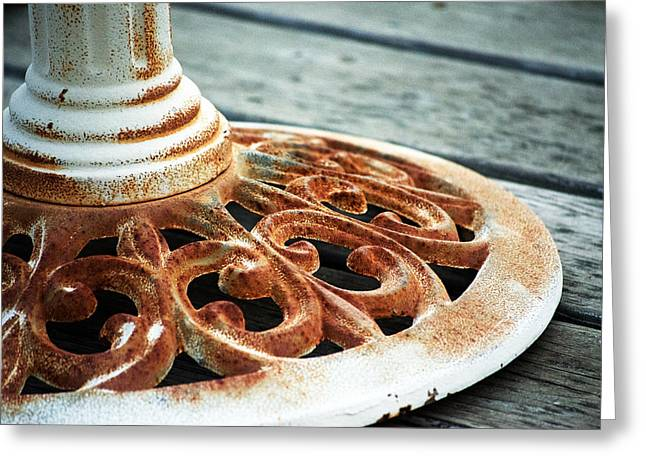Rusting On The Deck Greeting Card