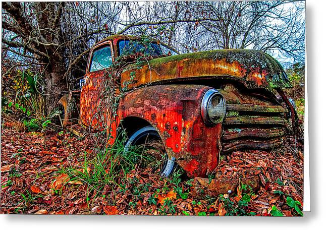 Rusty 1950 Chevrolet Greeting Card by Andy Crawford