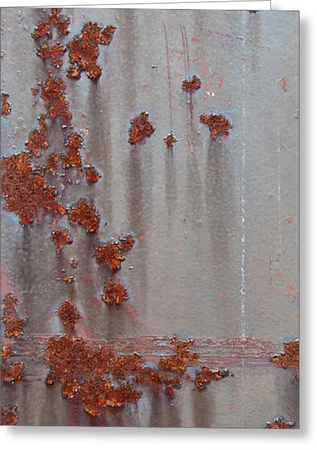 Rusty Abstract Greeting Card by Jani Freimann