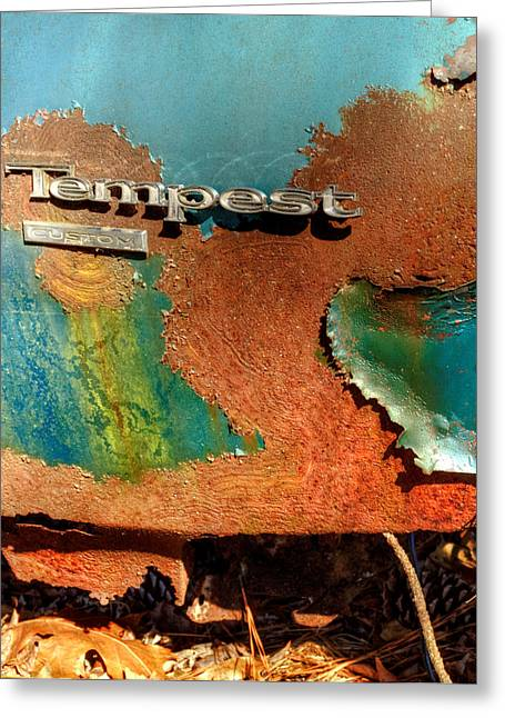 Rusty Blue Tempest Greeting Card by Greg Mimbs