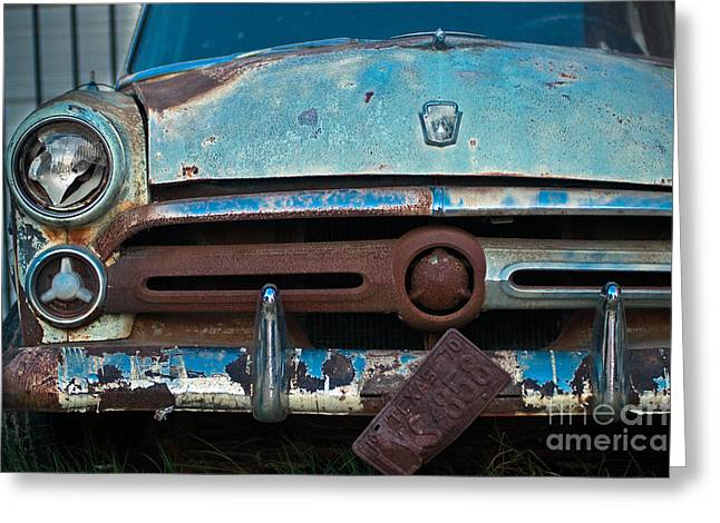 Rusty Blues Greeting Card by Sonja Quintero