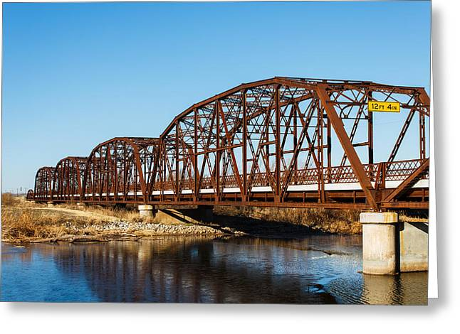 Rusty Bridge Greeting Card