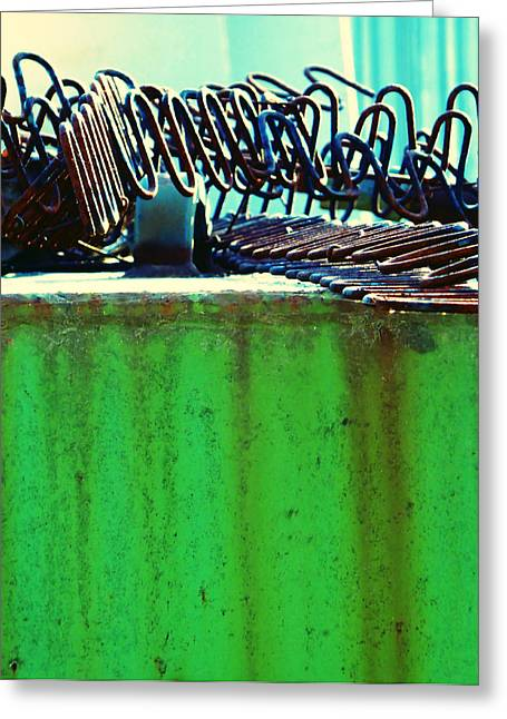 Rusty Coils 2 Greeting Card by Laurie Tsemak