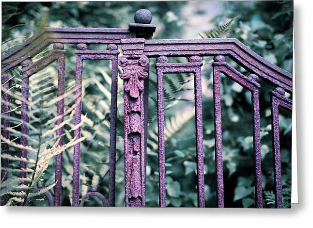 Rusty Fence Greeting Card