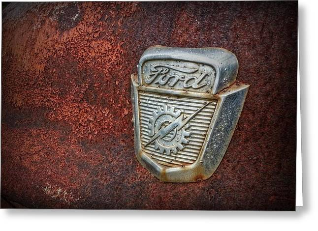 Rusty Ford Greeting Card by Linda Unger