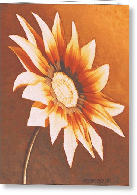Rusty Gazania Greeting Card