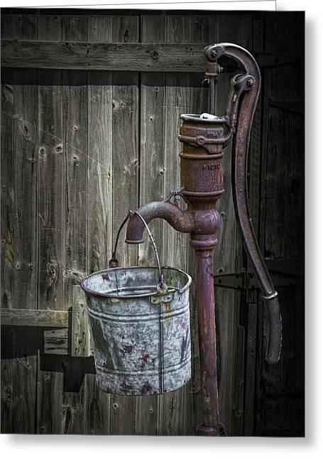 Rusty Hand Water Pump Greeting Card
