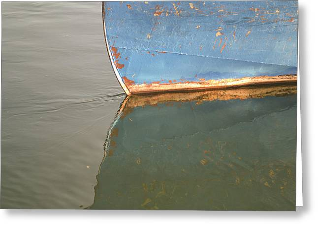 Rusty Hull Reflection Greeting Card by Bill Mock