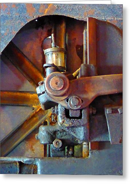 Rusty Machinery 2 Greeting Card by Laurie Tsemak