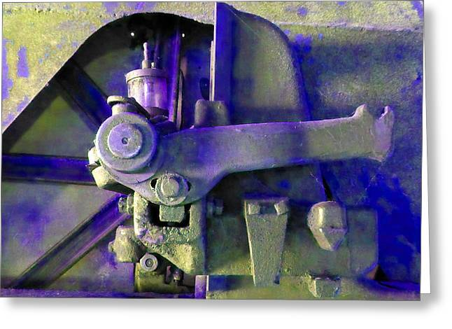 Rusty Machinery Greeting Card by Laurie Tsemak