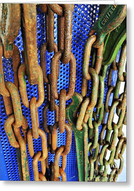 Rusty Metal Chains Greeting Card