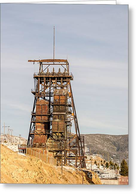Rusty Mining Headframe Greeting Card by Sue Smith