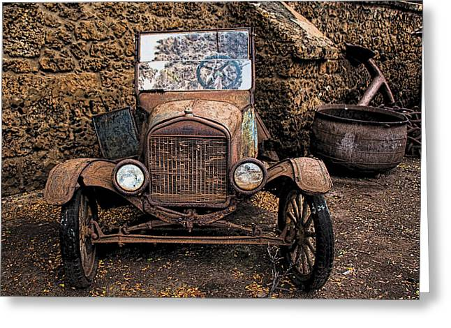 Rusty Ol' Ford II Greeting Card by Kathleen Scanlan