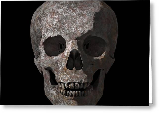Rusty Old Skull Greeting Card by Vitaliy Gladkiy