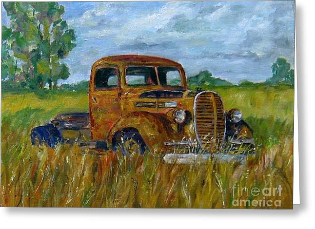 Rusty Old Truck Greeting Card by William Reed