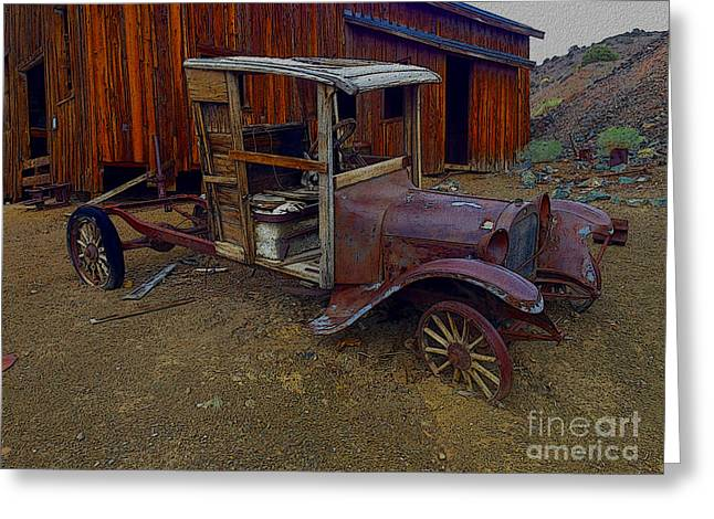 Rusty Old Vintage Car Greeting Card by R Muirhead Art