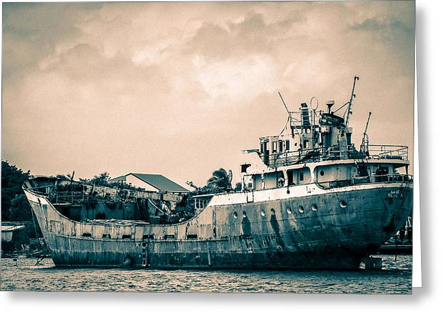 Rusty Ship Greeting Card