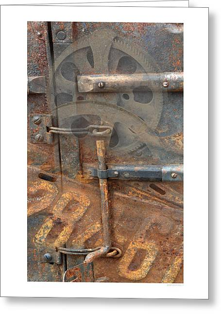 Greeting Card featuring the photograph Rusty Stuff Montage by Bob Salo