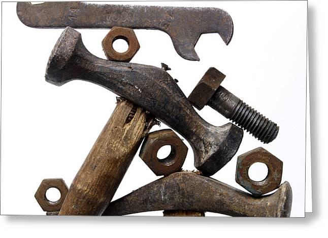 Rusty Tools Greeting Card by Bernard Jaubert