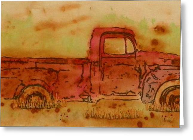 Rusty Truck Greeting Card by Jenny Williams