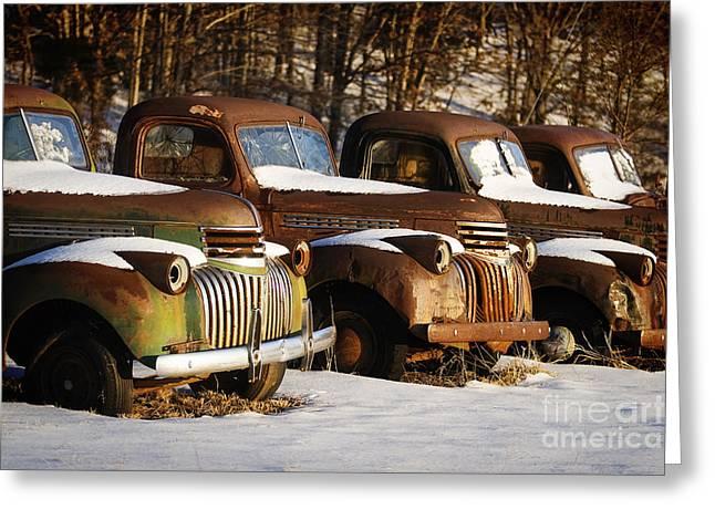 Rusty Trucks Greeting Card