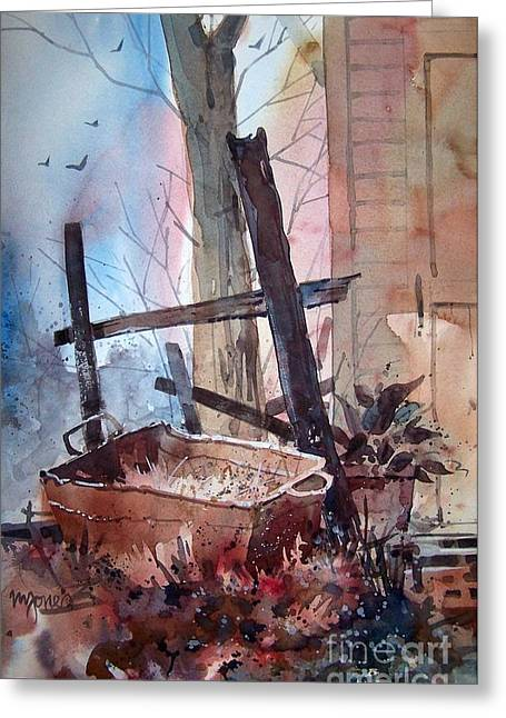 Rusty Tub Greeting Card by Micheal Jones
