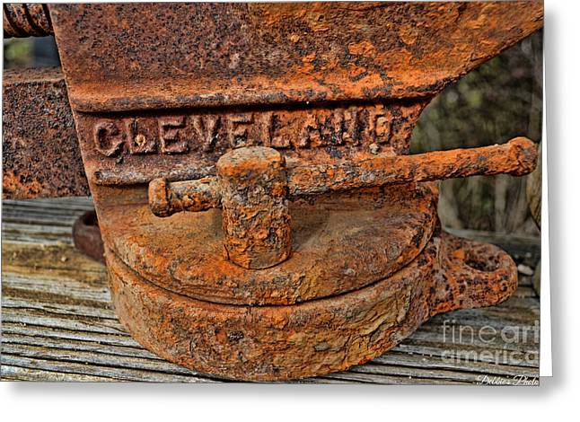 Rusty Vise 1 Greeting Card by Debbie Portwood