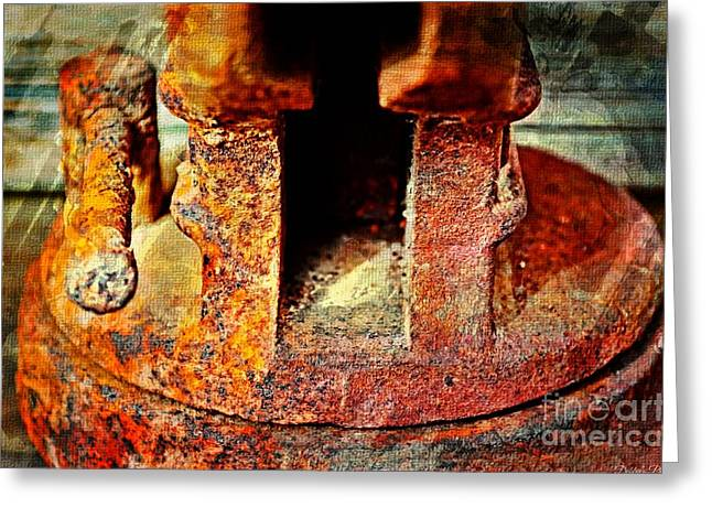 Rusty Vise Iv Greeting Card by Debbie Portwood