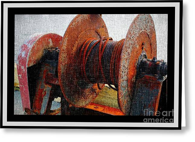 Rusty Winch  Greeting Card by Barbara Griffin