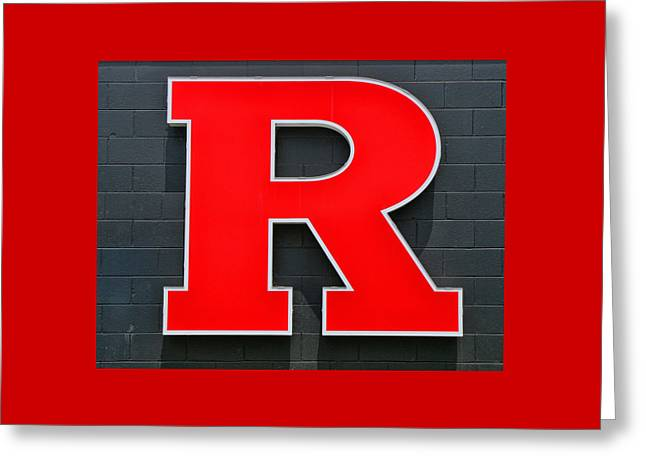 Rutgers Block R Greeting Card