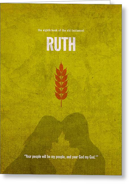 Ruth Books Of The Bible Series Old Testament Minimal Poster Art Number 8 Greeting Card by Design Turnpike