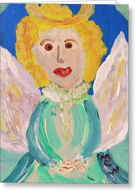 Greeting Card featuring the painting Ruth E. Angel by Mary Carol Williams