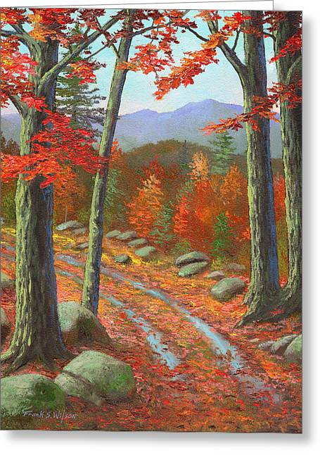 Autumn Rutted Road Greeting Card by Frank Wilson