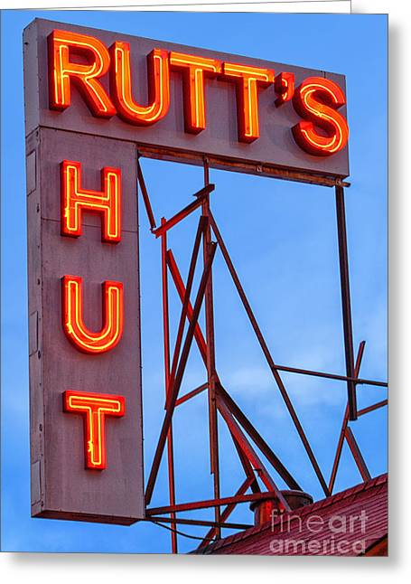 Rutt's Hut Greeting Card by Jerry Fornarotto
