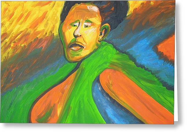 Rwanda Rage Greeting Card by Esther Newman-Cohen