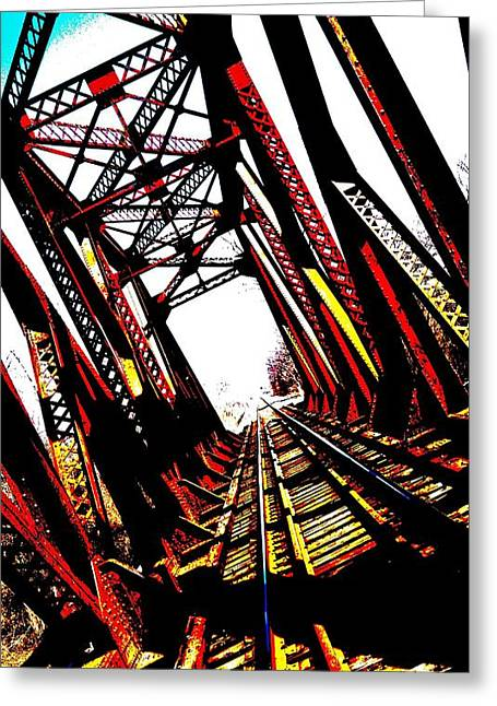 Rxr Bridge Polarized Greeting Card