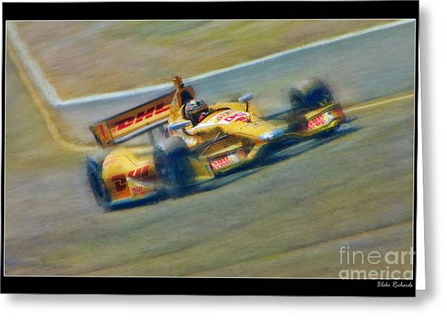 Ryan Hunter-reay Greeting Card by Blake Richards