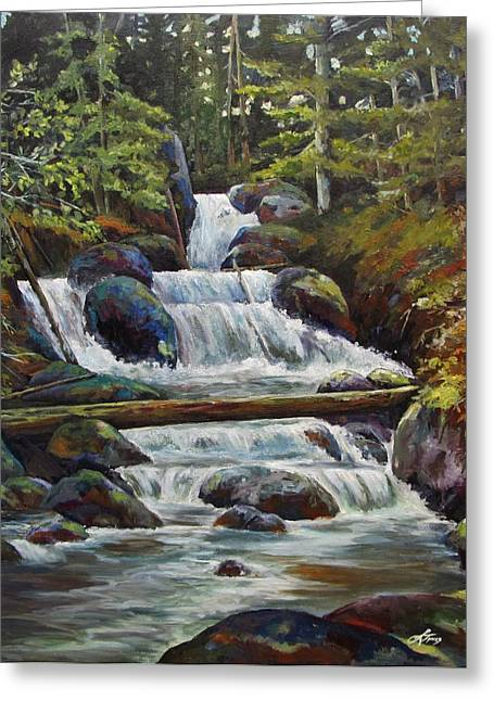 Ryans Falls Greeting Card by Suzanne Tynes