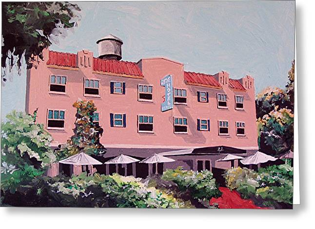 Ryde Hotel Greeting Card by Paul Guyer